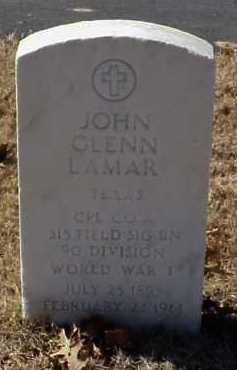 LAMAR  (VETERAN WWI), JOHN GLENN - Pulaski County, Arkansas | JOHN GLENN LAMAR  (VETERAN WWI) - Arkansas Gravestone Photos