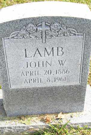 LAMB, JOHN W - Pulaski County, Arkansas | JOHN W LAMB - Arkansas Gravestone Photos