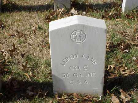 LAMB (VETERAN CSA), LEROY - Pulaski County, Arkansas | LEROY LAMB (VETERAN CSA) - Arkansas Gravestone Photos