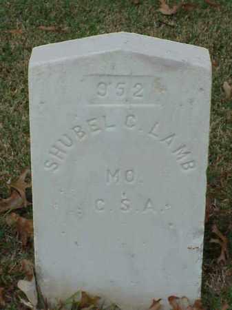 LAMB (VETERAN CSA), SHUBEL C - Pulaski County, Arkansas | SHUBEL C LAMB (VETERAN CSA) - Arkansas Gravestone Photos