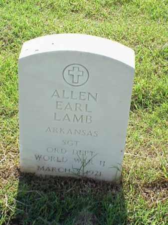 LAMB (VETERAN WWII), ALLEN EARL - Pulaski County, Arkansas | ALLEN EARL LAMB (VETERAN WWII) - Arkansas Gravestone Photos