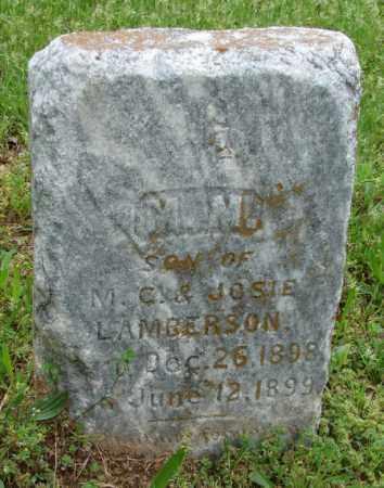 LAMBERSON, M M - Pulaski County, Arkansas   M M LAMBERSON - Arkansas Gravestone Photos