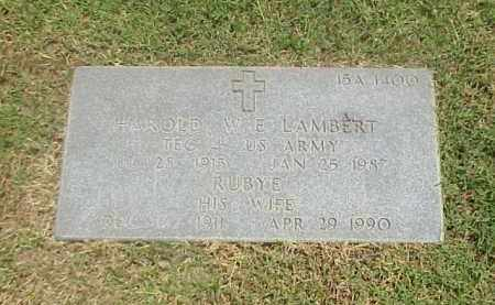 LAMBERT (VETERAN WWII), HAROLD  W E - Pulaski County, Arkansas | HAROLD  W E LAMBERT (VETERAN WWII) - Arkansas Gravestone Photos