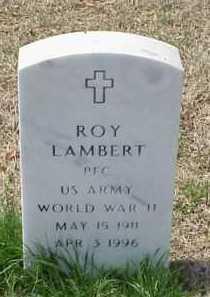 LAMBERT (VETERAN WWII), ROY - Pulaski County, Arkansas | ROY LAMBERT (VETERAN WWII) - Arkansas Gravestone Photos