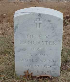 LANCASTER  (VETERAN WWII), OCIE V - Pulaski County, Arkansas   OCIE V LANCASTER  (VETERAN WWII) - Arkansas Gravestone Photos