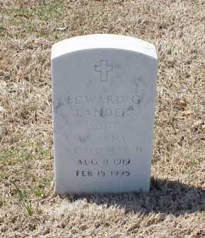 LANDER (VETERAN WWII), EDWARD G - Pulaski County, Arkansas   EDWARD G LANDER (VETERAN WWII) - Arkansas Gravestone Photos