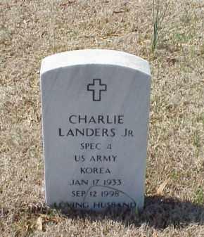 LANDERS, JR  (VETERAN KOR), CHARLES - Pulaski County, Arkansas   CHARLES LANDERS, JR  (VETERAN KOR) - Arkansas Gravestone Photos