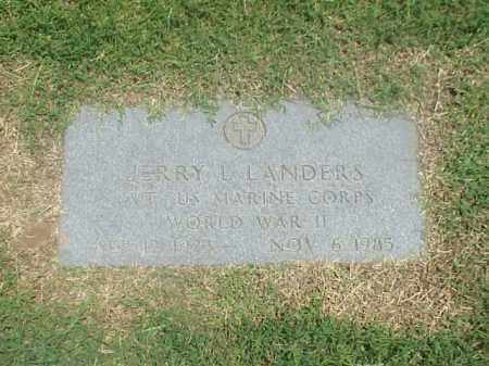 LANDERS (VETERAN WWII), JERRY L - Pulaski County, Arkansas | JERRY L LANDERS (VETERAN WWII) - Arkansas Gravestone Photos
