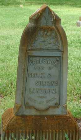 LANDRUM, FREDERICK P - Pulaski County, Arkansas   FREDERICK P LANDRUM - Arkansas Gravestone Photos