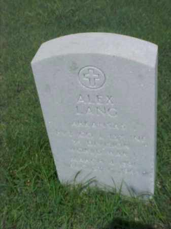 LANG (VETERAN WWI), ALEX - Pulaski County, Arkansas | ALEX LANG (VETERAN WWI) - Arkansas Gravestone Photos