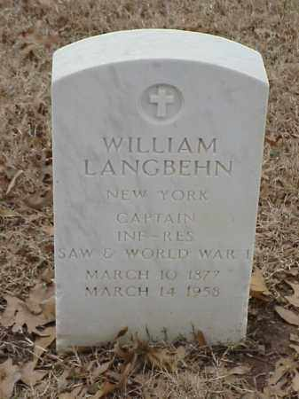 LANGBEHN (VETERAN 2 WARS), WILLIAM - Pulaski County, Arkansas | WILLIAM LANGBEHN (VETERAN 2 WARS) - Arkansas Gravestone Photos