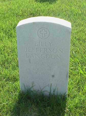 LANGDON (VETERAN KOR), BILLY JEFFERSON - Pulaski County, Arkansas | BILLY JEFFERSON LANGDON (VETERAN KOR) - Arkansas Gravestone Photos