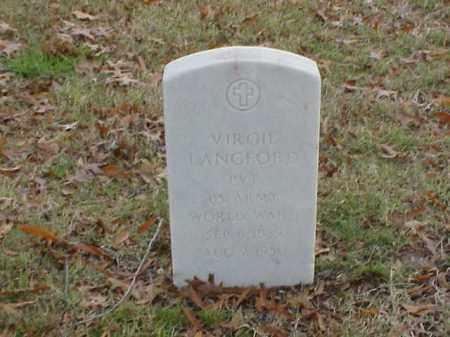 LANGFORD (VETERAN WWI), VIRGIL - Pulaski County, Arkansas | VIRGIL LANGFORD (VETERAN WWI) - Arkansas Gravestone Photos