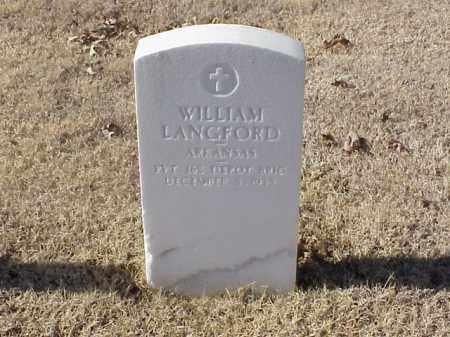 LANGFORD (VETERAN WWI), WILLIAM - Pulaski County, Arkansas | WILLIAM LANGFORD (VETERAN WWI) - Arkansas Gravestone Photos
