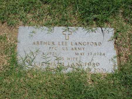 LANGFORD (VETERAN WWII), ARTHUR LEE - Pulaski County, Arkansas | ARTHUR LEE LANGFORD (VETERAN WWII) - Arkansas Gravestone Photos