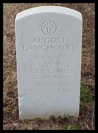 LANGHORST (VETERAN SAW), AUGUST - Pulaski County, Arkansas   AUGUST LANGHORST (VETERAN SAW) - Arkansas Gravestone Photos
