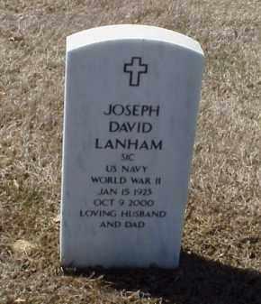 LANHAM (VETERAN WWII), JOSEPH DAVID - Pulaski County, Arkansas   JOSEPH DAVID LANHAM (VETERAN WWII) - Arkansas Gravestone Photos