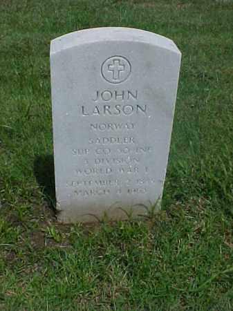 LARSON (VETERAN WWI), JOHN - Pulaski County, Arkansas   JOHN LARSON (VETERAN WWI) - Arkansas Gravestone Photos