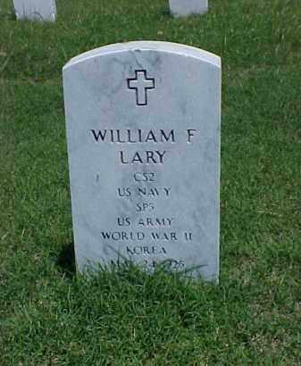 LARY (VETERAN 2 WARS), WILLIAM F - Pulaski County, Arkansas | WILLIAM F LARY (VETERAN 2 WARS) - Arkansas Gravestone Photos