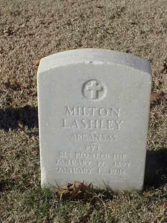 LASHLEY (VETERAN WWI), MILTON - Pulaski County, Arkansas | MILTON LASHLEY (VETERAN WWI) - Arkansas Gravestone Photos