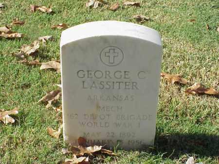 LASSITER (VETERAN WWI), GEORGE C - Pulaski County, Arkansas   GEORGE C LASSITER (VETERAN WWI) - Arkansas Gravestone Photos