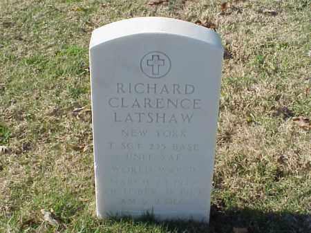 LATSHAW (VETERAN WWII), RICHARD CLARENCE - Pulaski County, Arkansas | RICHARD CLARENCE LATSHAW (VETERAN WWII) - Arkansas Gravestone Photos