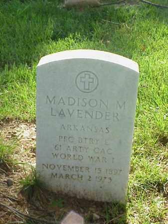 LAVENDER (VETERAN WWI), MADISON M - Pulaski County, Arkansas | MADISON M LAVENDER (VETERAN WWI) - Arkansas Gravestone Photos