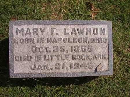 LAWHON, MARY F - Pulaski County, Arkansas | MARY F LAWHON - Arkansas Gravestone Photos
