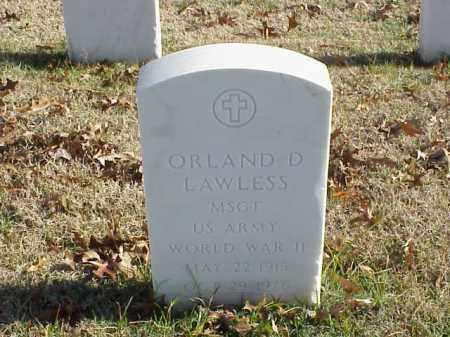 LAWLESS (VETERAN WWII), ORLAND D - Pulaski County, Arkansas | ORLAND D LAWLESS (VETERAN WWII) - Arkansas Gravestone Photos