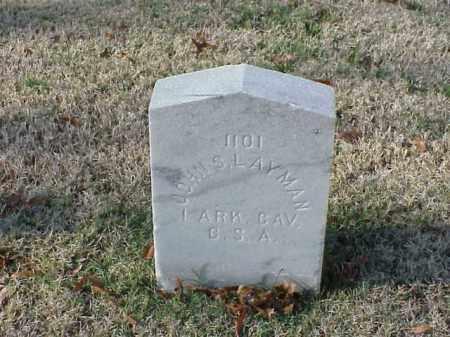 LAYMAN (VETERAN CSA), JOHN S - Pulaski County, Arkansas   JOHN S LAYMAN (VETERAN CSA) - Arkansas Gravestone Photos