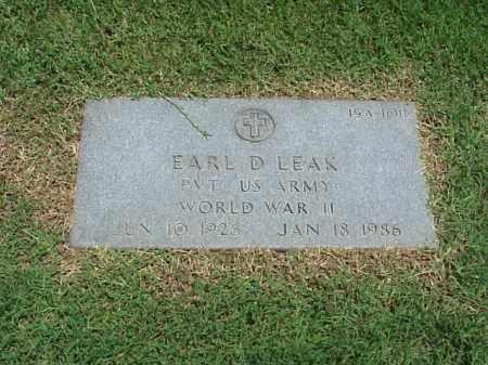 LEAR (VETERAN WWII), EARL D - Pulaski County, Arkansas   EARL D LEAR (VETERAN WWII) - Arkansas Gravestone Photos