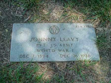 LEAVY (VETERAN WWI), JOHNNY - Pulaski County, Arkansas   JOHNNY LEAVY (VETERAN WWI) - Arkansas Gravestone Photos