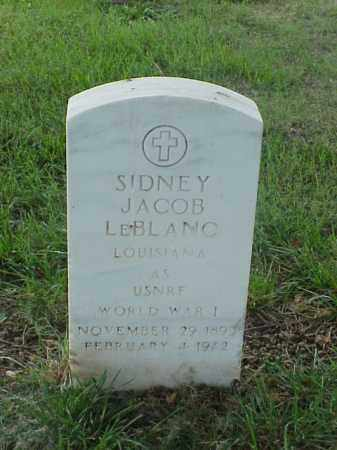 LEBLANC (VETERAN WWI), SIDNEY JACOB - Pulaski County, Arkansas | SIDNEY JACOB LEBLANC (VETERAN WWI) - Arkansas Gravestone Photos
