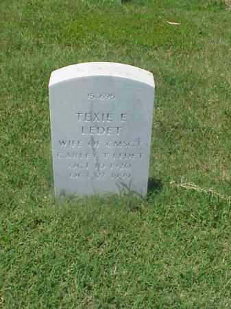 LEDET, TEXIE E - Pulaski County, Arkansas   TEXIE E LEDET - Arkansas Gravestone Photos