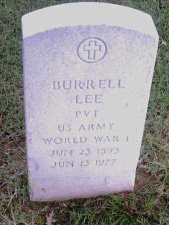 LEE  (VETERAN WWII), BURRELL - Pulaski County, Arkansas | BURRELL LEE  (VETERAN WWII) - Arkansas Gravestone Photos