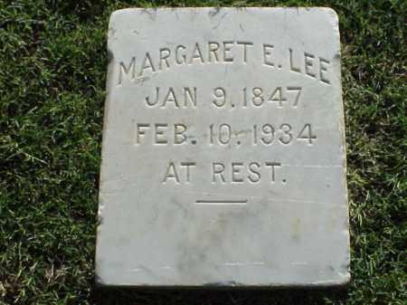 LEE, MARGARET E - Pulaski County, Arkansas | MARGARET E LEE - Arkansas Gravestone Photos