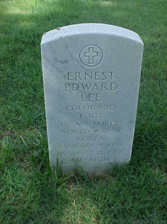 LEE (VETERAN 2 WARS), ERNEST EDWARD - Pulaski County, Arkansas | ERNEST EDWARD LEE (VETERAN 2 WARS) - Arkansas Gravestone Photos