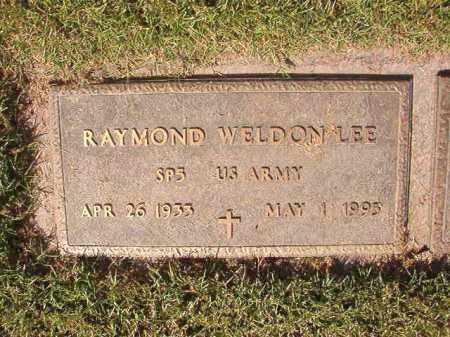 LEE (VETERAN), RAYMOND WELDON - Pulaski County, Arkansas | RAYMOND WELDON LEE (VETERAN) - Arkansas Gravestone Photos