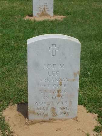 LEE (VETERAN WWI), JOE M - Pulaski County, Arkansas   JOE M LEE (VETERAN WWI) - Arkansas Gravestone Photos