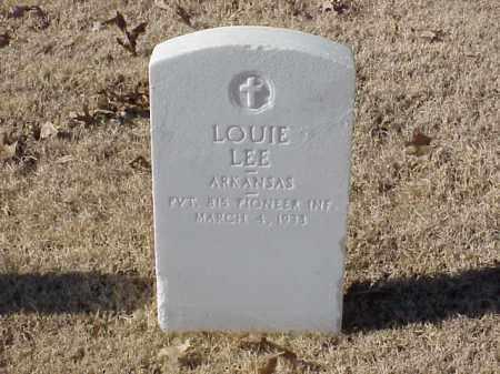 LEE (VETERAN WWI), LOUIE - Pulaski County, Arkansas | LOUIE LEE (VETERAN WWI) - Arkansas Gravestone Photos