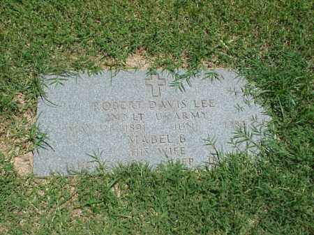 LEE (VETERAN WWI), ROBERT DAVIS - Pulaski County, Arkansas | ROBERT DAVIS LEE (VETERAN WWI) - Arkansas Gravestone Photos