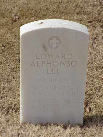 LEE (VETERAN WWII), EDWARD ALPHONSO - Pulaski County, Arkansas | EDWARD ALPHONSO LEE (VETERAN WWII) - Arkansas Gravestone Photos