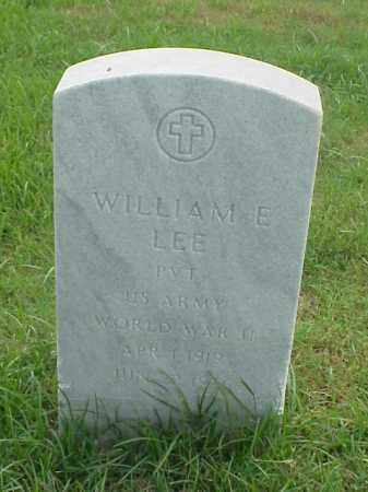 LEE (VETERAN WWII), WILLIAM E - Pulaski County, Arkansas   WILLIAM E LEE (VETERAN WWII) - Arkansas Gravestone Photos