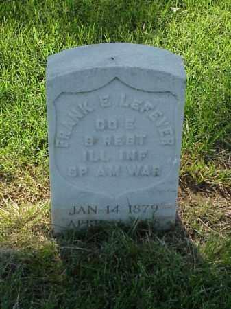 LEFEVER (VETERAN SAW), FRANK E - Pulaski County, Arkansas | FRANK E LEFEVER (VETERAN SAW) - Arkansas Gravestone Photos