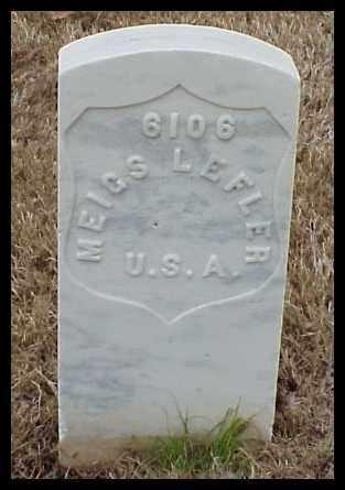 LEFLER (VETERAN SAW), MEIGS - Pulaski County, Arkansas | MEIGS LEFLER (VETERAN SAW) - Arkansas Gravestone Photos
