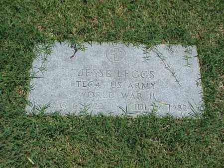 LEGGS (VETERAN WWII), JESSE - Pulaski County, Arkansas | JESSE LEGGS (VETERAN WWII) - Arkansas Gravestone Photos
