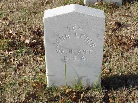 LEIGH (VETERAN CSA), JOHN - Pulaski County, Arkansas | JOHN LEIGH (VETERAN CSA) - Arkansas Gravestone Photos
