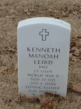 LEIRD (VETERAN WWII), KENNETH MANOAH - Pulaski County, Arkansas | KENNETH MANOAH LEIRD (VETERAN WWII) - Arkansas Gravestone Photos