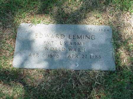 LEMING (VETERAN WWI), EDWARD - Pulaski County, Arkansas   EDWARD LEMING (VETERAN WWI) - Arkansas Gravestone Photos