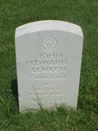 LEMKEN (VETERAN WWI), JOHN EDWARD - Pulaski County, Arkansas | JOHN EDWARD LEMKEN (VETERAN WWI) - Arkansas Gravestone Photos